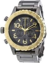 Nixon Women's Chrono A0371228 Grey Stainless-Steel Quartz Watch with Grey Dial