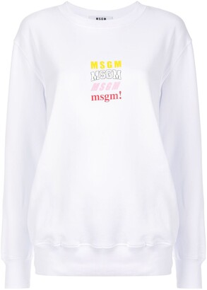 MSGM Logo Chest Print Sweatshirt