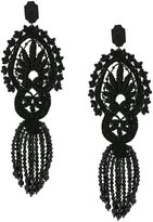 Gucci crystal embroidered clip on earrings