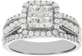 JCPenney MODERN BRIDE Lumastar 1 CT. T.W. Diamond 14K White Gold Princess-Cut Multi-Top Bridal Ring