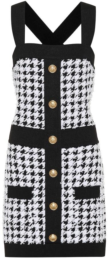 Balmain Houndstooth knit minidress