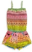 Flowers by Zoe Girls' Neon Tribal Print Romper - Sizes S-XL