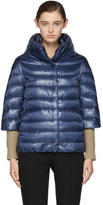 Herno Navy Down Cocoon Coat