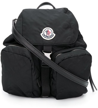 Moncler logo patch backpack