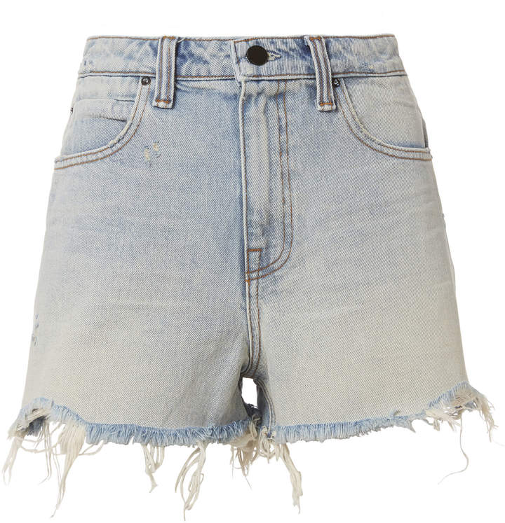 Alexander Wang Bite Bleach Frayed Shorts