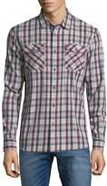 True Religion Men's Utility Plaid Button-Up Shirt