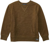 Ralph Lauren Slub Cotton Jersey Sweatshirt