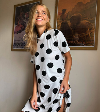 Wednesday's Girl mini t-shirt dress in polka dot