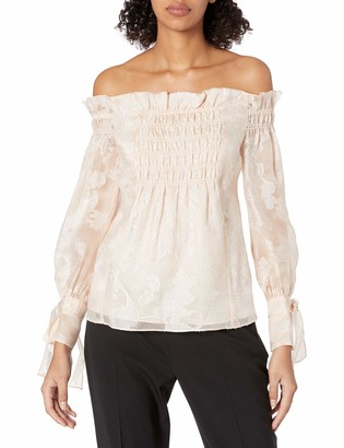 Rebecca Taylor Women's Off-Shoulder Floral Organza Top
