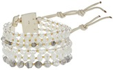 Chan Luu 7' Multi Strand White Single with Swarovski Crystals and Semi Precious Stones Bracelet