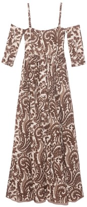 Rosie Assoulin Court Day Dress in Brown/Natural