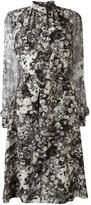 Lanvin flared floral print dress