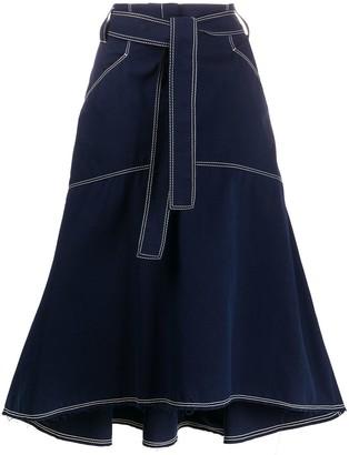 Odeeh A-line shape midi skirt