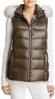 Andrew Marc Serena Rabbit Fur Reversible Vest