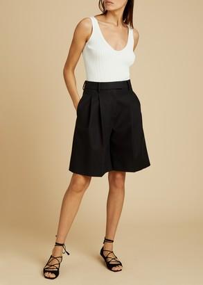 KHAITE The Bailey Short in Black