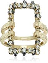 Alexis Bittar Crystal Encrusted Oversize Link Ring, Size 8