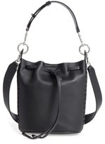 AllSaints Small Ray Leather Bucket Bag - Black