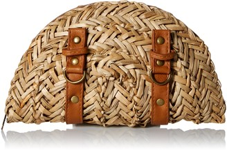 San Diego Hat Company Women's Sea Grass Clutch with Leather Straps