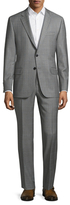 Hickey Freeman Wool Checkered Notch Lapel Suit