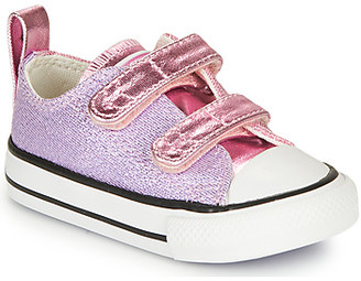 Converse CHUCK TAYLOR ALL STAR 2V METALLIC girls's Shoes (Trainers) in Purple