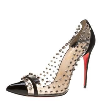 Christian Louboutin Black Plastic Heels