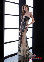 Jasz Couture - 5400 Dress in Black and Nude