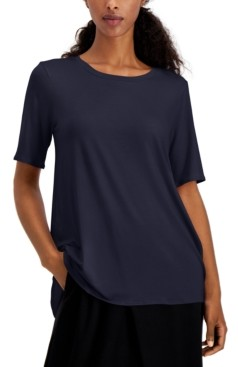 Eileen Fisher Elbow-Sleeve T-Shirt