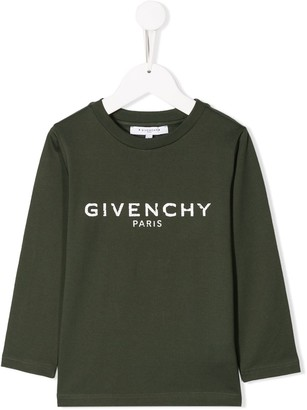 Givenchy Kids distressed logo top