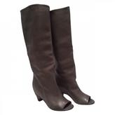Maison Margiela Grey Leather Boots