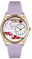 Whimsical Watches Kids' C0820021 Classic Gold Volleyball Lavender Leather And Goldtone Watch