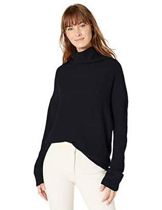 Lark & Ro Women's Boucle Turtleneck Oversized Sweater