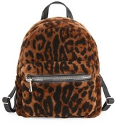 Salon Only Julia & Stella For The Fur Salon Leopard-Print Shearling Backpack