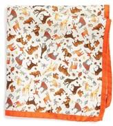 Eton Men's Animal Print Silk Pocket Square