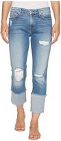7 For All Mankind Fashion Boyfriend Jeans w/ Wide Raw Cuff Destroy in Vintage Air Classic 3 Women's Jeans