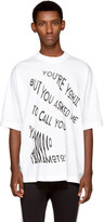 Y-3 White youre Yohji T-shirt