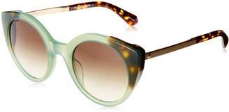 Kate Spade New York Women's Norina/s Round Sunglasses green havana 50 mm