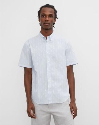 Club Monaco Short Sleeve Jacquard Shirt