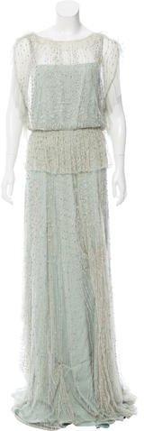 Jenny Packham Embellished Evening Dress
