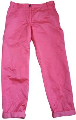 Dries Van Noten Red Cotton Trousers