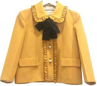 Gucci Yellow Wool Jackets