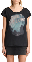 AllSaints Watch The Skies T-Shirt, Vintage Black