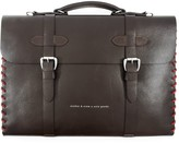 Anchor & Crew Deep Brown Rufford Leather & Rope Briefcase Small
