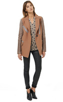 Rebecca Taylor Leather Sleeved Coat