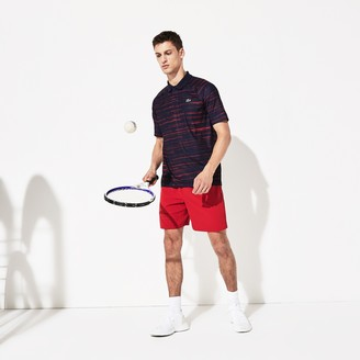 Lacoste Men's SPORT Novak Djokovic Striped Jersey Polo