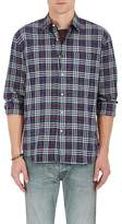 Barneys New York MEN'S PLAID COTTON-BLEND FLANNEL SHIRT