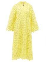 La Vie Style House - No.347 Star Guipure-lace Kaftan Dress - Womens - Yellow