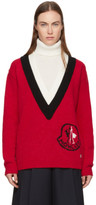 Moncler Gamme Rouge Tricolor Logo Turtleneck