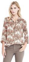 Banana Republic Floral Tiered Ruffled Shirt