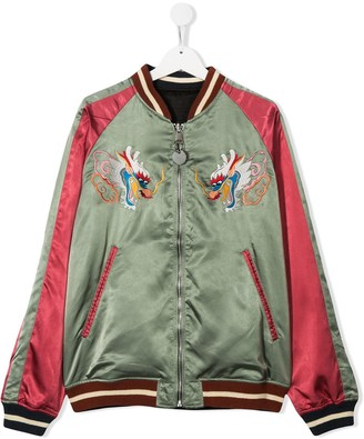 Diesel TEEN Jcrust reversible bomber jacket