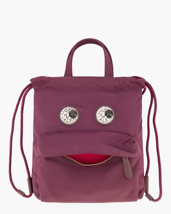 Anya Hindmarch Mini Crystal-Eyes Drawstring Backpack